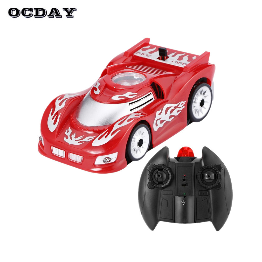 OCDAY RC Wall Climbing Car Magic Wall Floor Climber Remote Control Anti-gravity Wall Racing Tracks Model Toys Gift Children
