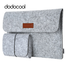 "dodocool 12"" 13"" laptop Bag Case for macbook air 13 macbook pro 13 Case Laptop Sleeve Cover Case 4 Compartments with Mouse Pouch(China)"