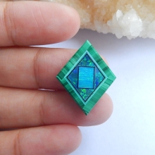 Natural Stone Malachite Opal Turquoise Cabochon 21x16x1mm 2.3g semiprecious stone Beauty Jewelry Accessories(China)