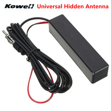 KOWELL Universal Car Auto Stereo Radio Electronic Hidden Antenna Aerial FM/AM Amplified for Lada for Volkswagen VW Golf Bora RIO(China)