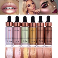 Fashion 6 Colors illuminating Liquid Foundation Concealer Highlighter Unicorn Make Up Shimmer Face Glow Cosmetic Maquillaje(China)