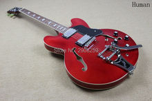 Custom Shop ES 335 jazz hollow electric guitar semi hollow body real guitar pics bigsby bridge tremolo system Factory direct