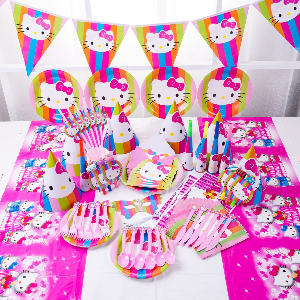 """12/"""" LATEX Quality Birthday Cake Party BALLOONS Package HELLO KITTY Cat Pink 6"""