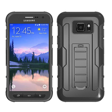 S7 Active Case Cover Plastic Anti Knock Hybrid Armor Cases for Samsung Galaxy S7 Active SMG891A Phone Bags With Kickstand Holder