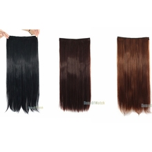 "Fashion 22"" Clip Hair Extension Straight  Long 5 Clip in Synthetic  Hair Piece Extensions 3 Colors (NWG0HE60731)"
