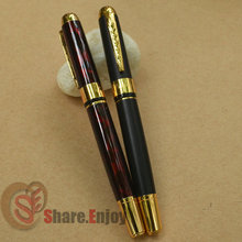 2 PCS JINHAO 250 WINE VS FROSTED BLACK ROLLER BALL PEN GOLDEN TRIM(China)