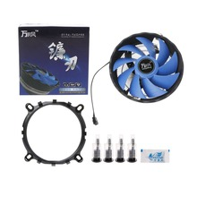 New Arrival Blue 12cm Blade Aluminium PC CPU Cooler Cooling Fan For Intel 775/1155 AMD 754/AM2 For Computer Fans & Cooling C26