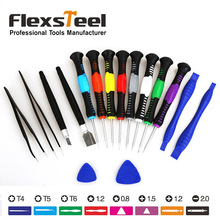 Flexsteel 16 in 1 Professional Precision Screwdriver Set Repair Tool Kit for iPad iPhone Samsung Galaxy Moblie Phone
