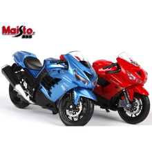 1/18 Original Maisto Kawasaki ZX-14R Red and Blue Motorcycle Models Diecast Motorbike Gifts Collections