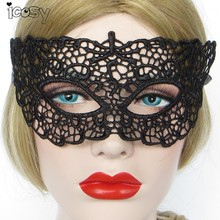 1pc Black Lace Eye Mask Halloween Masquerade Venetian Masks Fancy Dress Costume masques Prom Accessories(China)