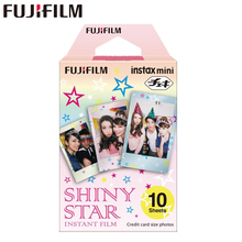 Original Fujifilm Fuji Instax Mini 8 Shiny Star Prints Film 10 Sheets For 8 50s 7s 90 25 Share SP-1 Instant Cameras New arrive(China)