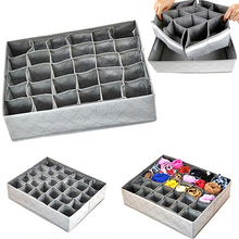 Hot! Foldable Underwear Socks Drawer Organizer Storage Box Useful 30 Cells Container(China)