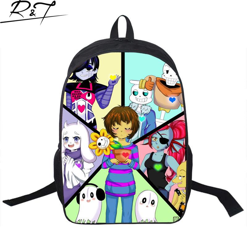 Hot Cool Undertale Printing Schoolbags For Boys Girls Fashion Young Men Women Backpack Gifts Mochilas Children Funny Book Bags<br><br>Aliexpress