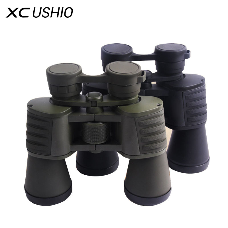 Wide Angle 10x50 HD Hunting Binoculars High Power Optics Professional Waterproof Sports Telescope BAK4 Prism Glass Telescopio<br>