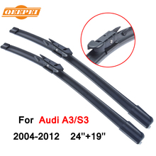 QEEPEI For Audi A3/S3 2004-2012 24''+19'' Wipers Blade Accessories Auto Cars Rubber Windshield Wiper 8P CPB105-1