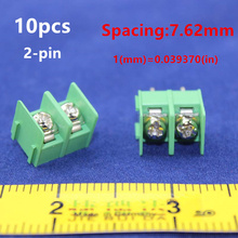 Free shipping 10pcs KF7.62mm-2P 20A 300V 7.62mm pitch connector pcb screw terminal block connector 2pin