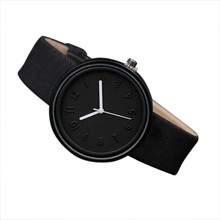 Unisex Simple Watch Fashion Number Quartz Watches Canvas Belt Ladies Wrist Watch drop ship #S(China)
