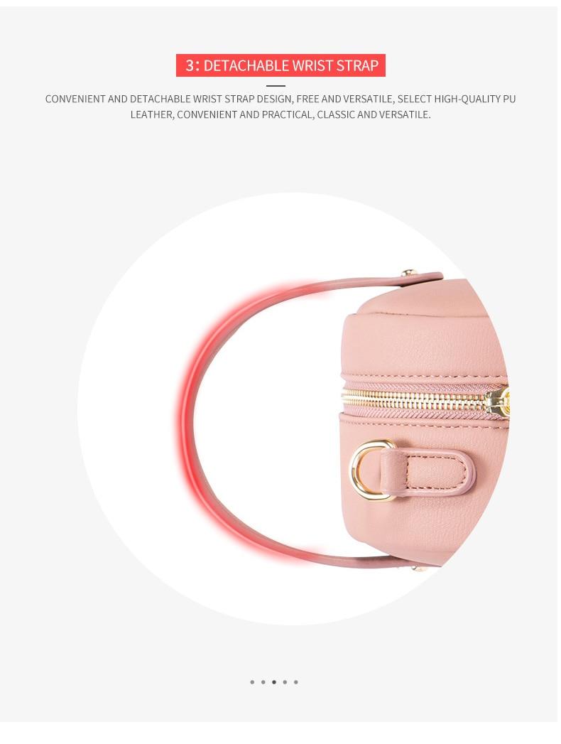 حقيبة بشكل دائري صغيرة الحجم بالوان متعددة 8