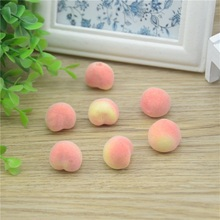 30pcs Cheap Mini Peach Foam Artificial Fake Fruit Vegetable For Home Wedding Decoration Cognitive Toy Dining Table Decoration