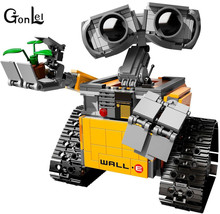 2016 New GonLeI 39023 687Pcs Idea Robot WALLE Model Building Kits Figures Blocks Bricks Children Toys  compatible Lepin 16003