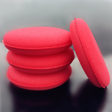 Ultra Thick 5 Inch Large Size Red Foam Sponge High Density Premium Car Care Wax/Sealant Applicator Pads