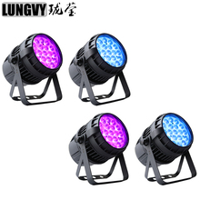 Free Shipping 4pcs/lot 19x12W RGBW Waterproof LED Par Zoom Light IP65 Professional Dj Shows Disco DMX Bar Night Clubs Light(China)