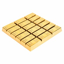 1Pc Simulation Gold Brick Cup Mat Coffee Drink Placemat Tableware Table Drinks Coaster Wholesale Home Family Supplies