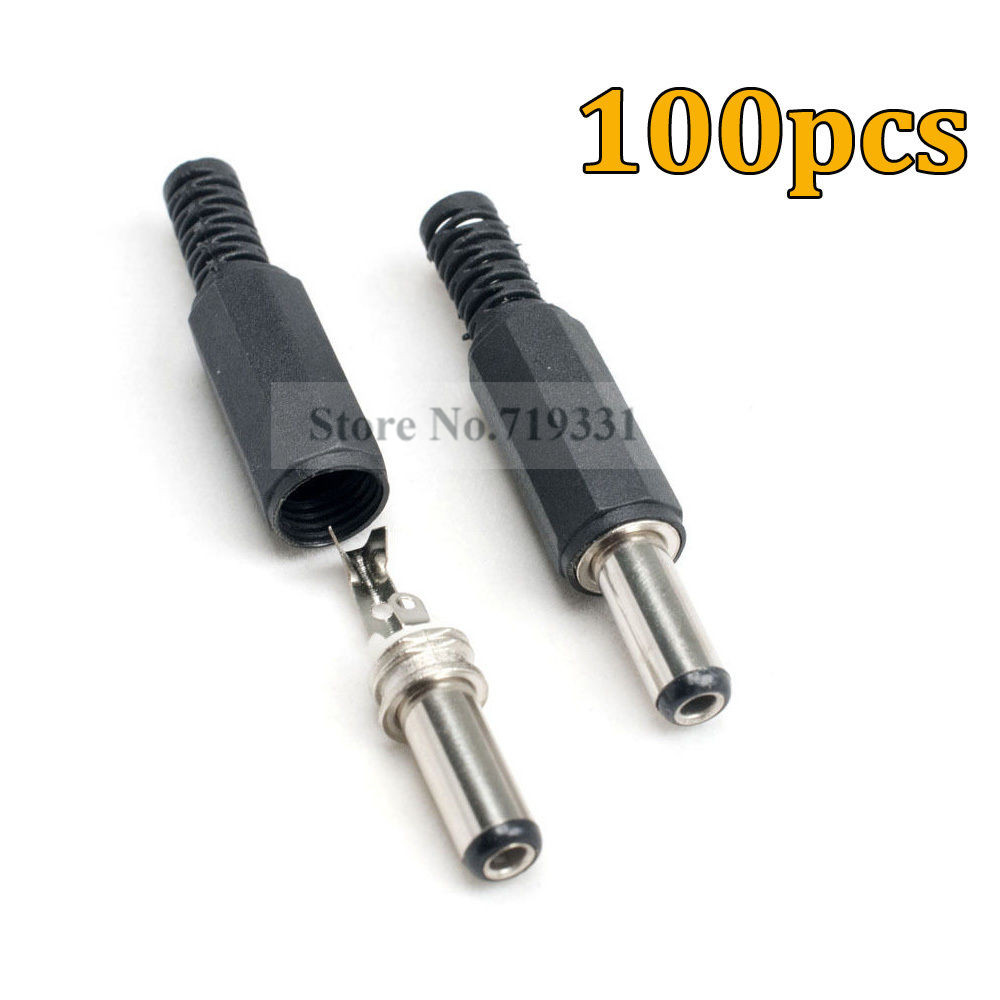 100 PCS 12V 5.5x2.1mm Female DC Power Socket Jack Connector Cable Plug Wire CCTV<br><br>Aliexpress