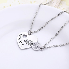 2015 Hot Sale Best Friends Long Chain Necklaces Key Inset Heart Meaning Happy Forever Trendy Jewelry Necklace Womens Necklaces