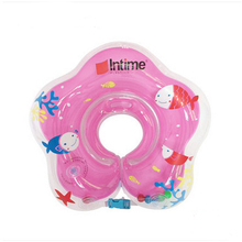 2016 New Baby Swimming Aid Floats Neck Collar Inflatable Tube Ring for Babies High Quality Cute Mini Swim Ring Size 41*41cm(China)