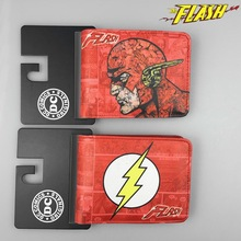 DC Comics Justice League Superhero The Flash Anime Short Wallets with Card and Photo Holder Cartoon Wallet