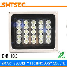 SI-25W 25PCS LED 80M White Light Illuminator DC/AC Angle 15-90 Degrees Optional IP66 Light Lamp For CCTV Security Camera