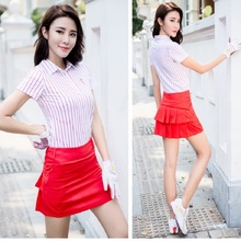Polo Pleated Golf Woemen Sportswear Badminton Short Tennis Skirts Pantskirt Lady Lining Zipper Culottes Wrinkle Antilight skirt(China)