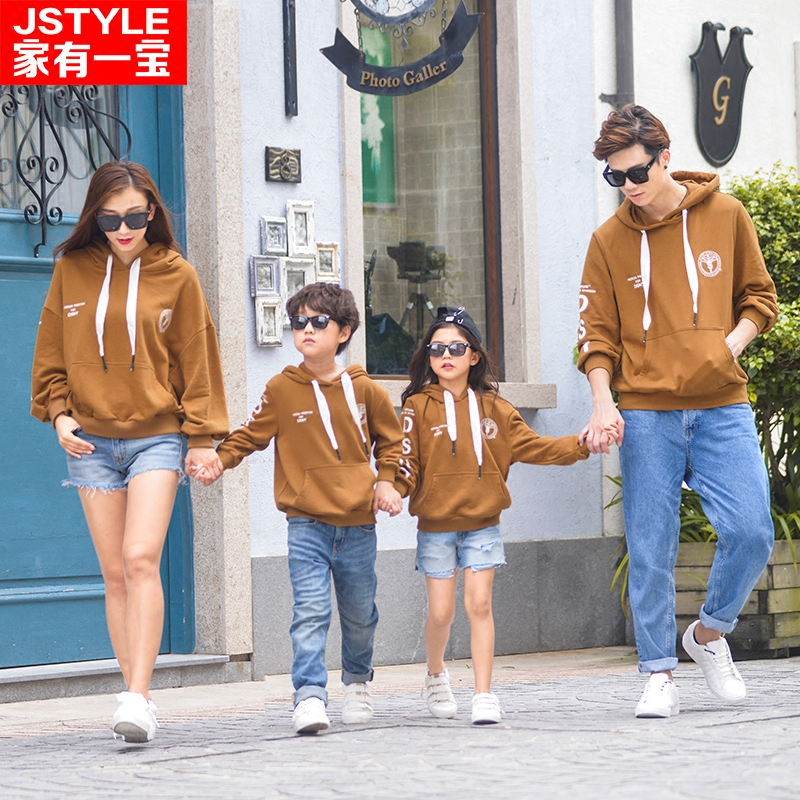 Family Matching Clothes Winter Boys Plus Size Hoodies Father And Son Sweater Mother And Daughter Clothes Christmas Costumes <br>
