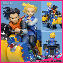 PrettyAngel - Genuine Megahouse DESKTOP REAL McCOY Dragon Ball Z 04. Android #17 & #18 PVC Complete Figure(China)
