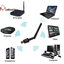 Malloom 2017 Wireless Wifi Antenna Bluetooth Adapter 600 Mbps Dual Band 2.4/5Ghz Wireless USB WiFi Network Adapter 802.11AC(China)