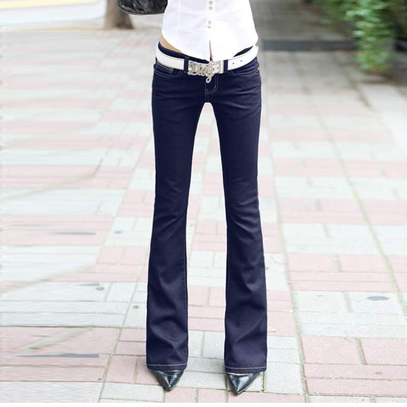 Low Waisted Womens Blue Denim Stretch Flare Jeans Long Bell Skinny Spandex Jean Trousers Woman Denim Pants For Slim Hip WomenОдежда и ак�е��уары<br><br><br>Aliexpress
