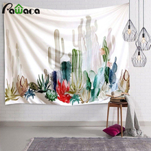 Cactus Watercolor Hanging Wall Tapestries Mandala Bohemian Tapestry Landscape Wallpaper Wall Art Home Decor Shawl Throw 10 Style(China)