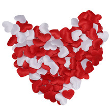 200Pcs/400Pcs Fake rose petals Fabric Heart Birthday Wedding Party Valentine's Day Party Bridal Confetti Decoration 2018(China)