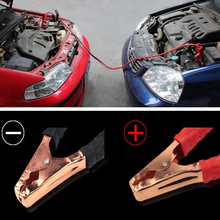 KROAK 2 메터 500AMP Copper Wire Car Auto Battery 선 비상 Cable 선 Cable Clip 힘 Charging Jump Start (납 black Red(China)