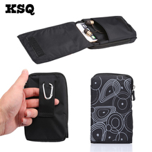 KSQ New Sports Wallet Mobile Phone Bag For Multi Phone Model Hook Loop Belt Pouch Holster Bag Pocket Outdoor Army Cover Case