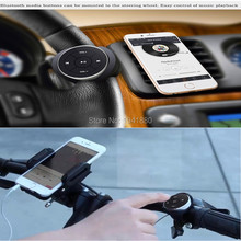 Wireless Bluetooth Media Remote button steering wheel remote control for car motorcycle bike handlebar remote control music