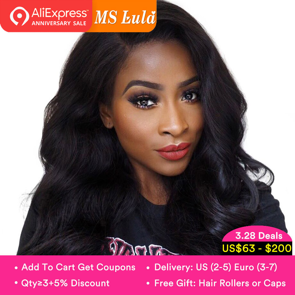 MS Lula Pre plucked 360 Lace Frontal Wig Brazilian Body Wave  Remy Human Hair Wig Lace Front Wig Natural Hairline with Baby Hair(China)