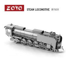 Steam Locomotive Miniature 3D Puzzle Metal Model Building Kits Puzzle Educational Toys for Children and adult