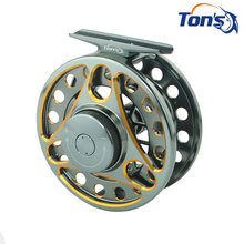 Double-colored SLA5/6 7/8 Aluminum Alloy Machine Cut Fly Fishing Reels Large Arbor Spool Width 85mm / 95mm