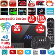 Original X92 3g 16g 3G/32G Amlogic S912 Android 6.0 TV Box Octa Core 2.4G 5G Wifi 4K 3D H.265 Smart tv media player Set Top Box