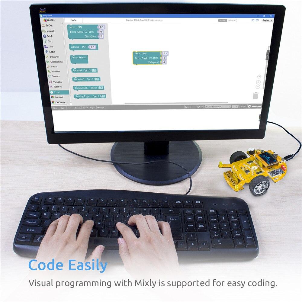 Education Visual ProgrammingSmart Car Learning Kit For Kids Adults (3)