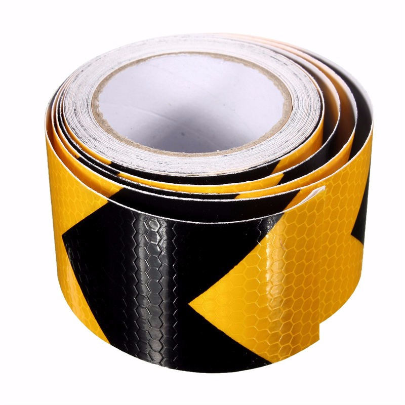 NEW Durable Quality 3 meters PVC Reflective Tape Yellow And Black arrow reflective safety warning belt Free Shipping<br><br>Aliexpress