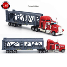 1:65 Alloy Truck Metal Car Toy American Transporter Automobile Transporter Oyuncak Toys for Children