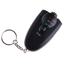 Mini Professional Key Chain Alcohol Meter Analyzer Portable Keychain Red Light LED Flashlight Alcohol Breath Tester Breathalyzer(China)